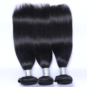 Wholesale dyed virgin peruvian hair resale online - Natural Color Remy Human Hair Extensions Straight Hair Weaves Brazilian Malaysian Peruvian Indian Human Virgin Hair Bundles Can Be Dye Ombre