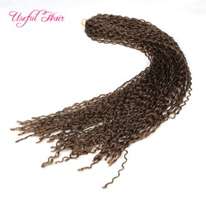 Wholesale hair crimping for sale - Group buy Synthetic ZIZi crochet braids hair kinky curly braiding hair Micro Knot ZiZi are teeny tiny crimped premade braids for black women marley