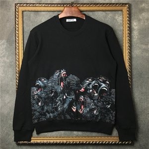 Wholesale 2019 Fashion Autumn fashion Clothing Mens Sweaters high quality monkey jumper baboon printed men sport Designer hoodies tops