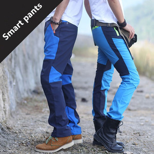 Wholesale-Winter Men Warm Softshell Fleece Pants Skiing Snowboard Outdoor Sport Hiking Trousers Grey Camping Climbing Breath Snow Pants on Sale