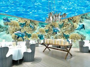 Wholesale underwater wall murals resale online - mural d wallpaper d wall papers for tv backdrop Underwater world whole house mural wall paint