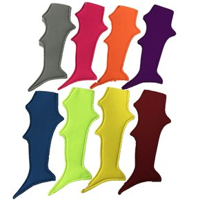colas de tiburón al por mayor-Shark Tail Popsicle Mangas de color neopreno Ice Pop Handle Kids Freezer Popsicle Holder Kids Regalo Pop Wraps DOM106558