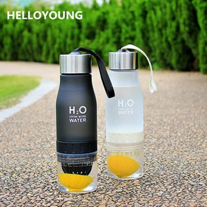 Hot sales New Xmas Gift 650ml Water Bottle plastic Fruit infusion bottle Infuser Drink Outdoor Sports Juice lemon Portable Kettle