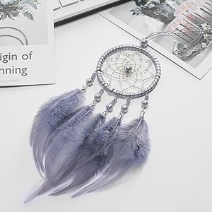 Wholesale Car Ornaments Hanging Auto Pendant Handmade Indian Dream Catcher Net with Feathers Wind Chimes Car Rear View Mirror Decoration