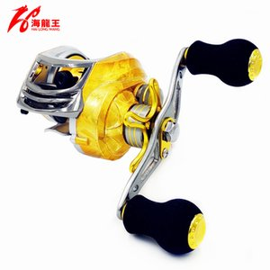 Wholesale Hlw Gold Brand Bb Fishing Baitcasting Reel Left Right Hand Saltwater Carbon Lure Bait Casting Reel Baitcaster Fishing Reels