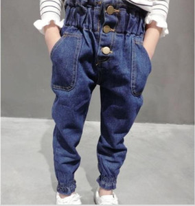 Wholesale New Fashion kids spring autumn Children loose Jeans girls Trousers Baby Girls Relaxed denim pants children pantyhose tights long pants