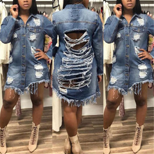 Boyfriend Style Women Slim Denim Coat town clothes Casual Jean Jacket Outerwear