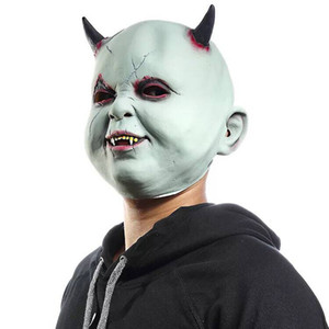 Wholesale halloween props terror masks for sale - Group buy Scary Devil Mask Vampire Halloween Mask Terror Zombie Haunted House Escape Dress Up Props Hood Halloween Decoration Funny