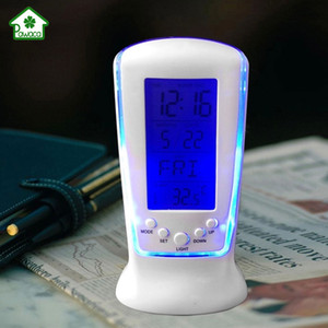 Wholesale Mini Night Light Music Alarm Clock LED Time Date Temperature Digital Display Desktop Alarm Clock for Home Bedroom Bedside