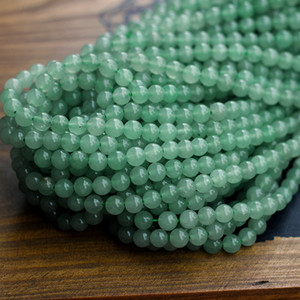 1 Strand Natural Stone Beads Green Aventurines Round Spacer Beads for DIY Bracelets Jewelry Making 4MM 6MM 8MM 10MM 12MM Size