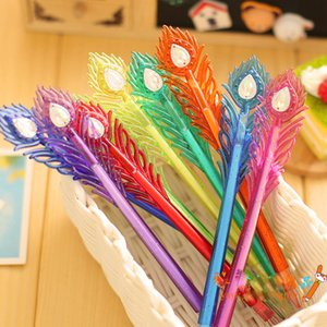 Wholesale Peacock Feather Style Gel Pen Ballpoint Pens DHL FEDEX