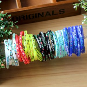 Wholesale High quality Nice 1000pcs lot silicone bracelets  wristband promotional gift sports band Party Supplies T2I092 on Sale