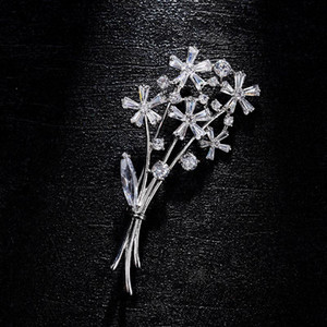 Wholesale Red Trees Brand Box Package Classic Flower Brooch For Women Wedding Dress Accessories Fashion Pins and Brooches Jewelry