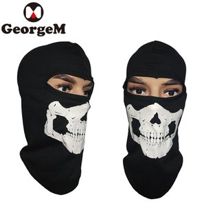 Wholesale 2018 Sport Ski Cycling Face Mask Skull Bandana Helmet Neck Bike Face Mask Thermal Scarf Halloween Headband Scarves Riding Hiking