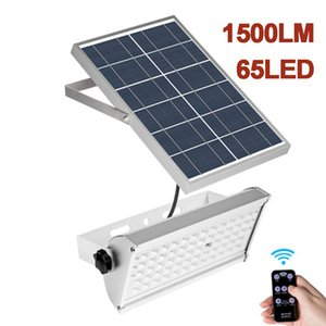 Wholesale Solar FloodLight LED W W Microwave Radar Sensor Flood Lights Solar Courtyard Lighting With Rremote Control Outdoor Street Lamp