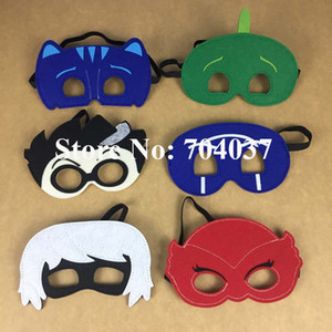 Wholesale pieces New birthday party supplies Kids pretend display felt masks Fancy PJ masks