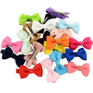 Wholesale Solid Ribbon Hairclips Kids Bowknots Hair Clip Girls Hairpins Baby Hair Accessories Decorations Children Gift Photo Props Barrettes Jewerly
