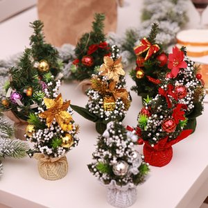 Wholesale 22 cm Mini Merry Christmas Tree Bedroom Desk Decoration Toy Doll Gift Children Natale Ingrosso Christmas Decorations for Home Style