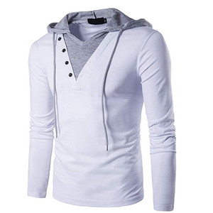 Men's Casual Slim Fit Long Sleeve Sweatshirt Hooded Hoodies with Tops Man Slim Male Tops Fashion Tracksuit EUROPE SIZE B24-27