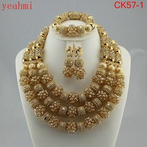 Wholesale New year big sale Classic Orange red blue Nigerian african beads jewelry set sets in wedding party dinner dress for women CK57