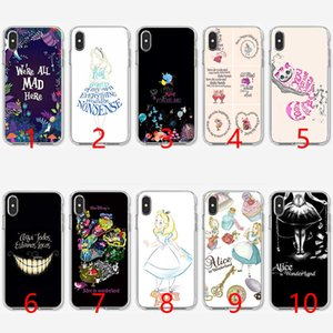 Wholesale Alice in Wonderland Anime Soft Silicone TPU Phone Case for iPhone S SE S Plus X XR XS Max Cover