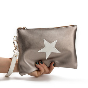 Wholesale 2018 Stars Envelope Bag Women s Handbags Girls Leather Clutch Bags Nylon Female Wrist Bags Women s bolsa feminina