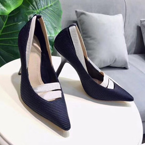 Beautiful Lady Dress Shoes Rhinestone Design Women Pointed Toe Thin High Heels Satin Sexy Party Festival Wedding Shoes Women Pumps size35-42