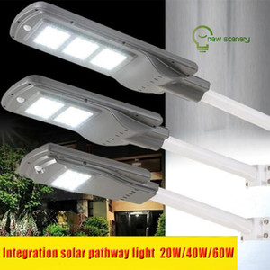 20W 40W 60W solar powered led lights by PIR motion sensor solar street pathway decorative floodlights