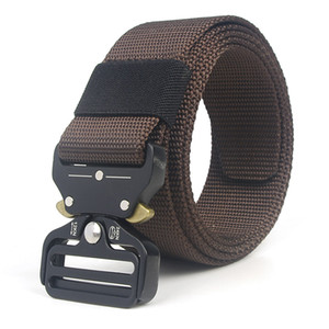 Wholesale men belt canvas webbing resale online - 2018 Army Tactical Waist Belt Man Jeans Male Military Waist Casual Canvas Webbing Nylon Duty Strap Belt