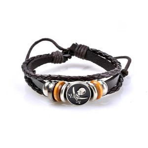Wholesale Bohemia New Leather Mens Bracelets Man Multilayer Rope layers Hand Woven Bracelet Braided Bracelet Female Jewelry