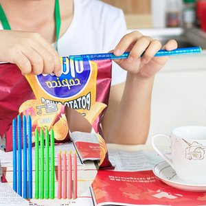 Wholesale New Home Kitchen Food Bag Clips Seal Lock Sticks Reusable Bag Sealer Fresh Food Sealed Organizer Storage IC614