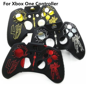 Free shipping Robot Pattern Soft Protective Silicon Gel Rubber Cover Skin Case for Xbox One Controller
