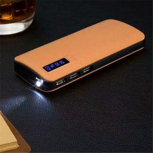 Hot Sale dermatoglyph Power bank 20000mAh portable power 3 USB backup Powerbank Universal external battery with power display