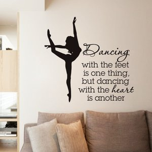Wholesale Elegant Ballet Dancer Vinyl Wall Stickers Dancing Wall Sticker For Dancer School High Quality Wallpaper Creative Mural
