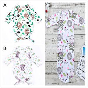 3 Styles Baby cute printing sleeping bag floral elephant tree sloths sheep cartoon animal plants pattern sleeping sack for 0-3M