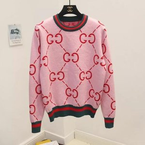 high end Wool Multicolor Viscose NEW Women GIRLS Knitted Sweaters Pullover Jacquard knit Tops with stripes Knitwear blouse shirts outwear on Sale