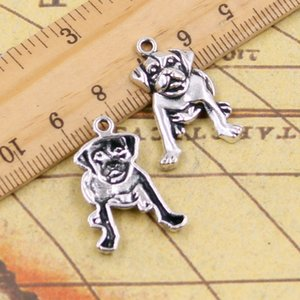 Wholesale whole sale10pcs Charms dog mm Tibetan Silver Plated Pendants Antique Jewelry Making DIY Handmade Craft