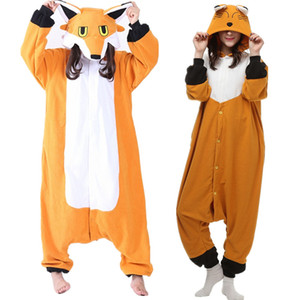 Wholesale Fox Women s and Men s Animal Kigurumi Polar Fleece Costume for Halloween Carnival New Year Party welcome Drop Shipping