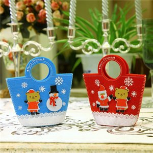 Wholesale 4 set Small Cute Christmas Gift Bags Candy Holders Confection Party Decor Festival Gift Non woven Fabrics Bags