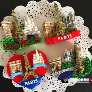 Wholesale Magnetic Fridge Magnets Refrigerator Sticker Paris Eiffel Tower Home Decoration Accessories Magnetic Paste Arts Crafts