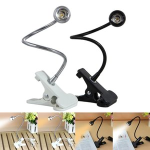 3W USB Rechargeble LED Light Clip on Flexible Reading Bed Lamp Table Desk Lamp Book Desktop Bed Lamp Lighting Bedside Lighting