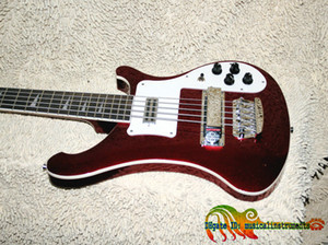 Wholesale Custom Shop Wine Red Strings Electric Bass High Quality OEM China Guitars