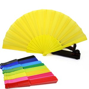 Wholesale Portable Chinese Folding Fan Plain Hand Held Fabric Summer Pocket Fan Wedding Party