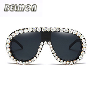 Wholesale 2018 Fashion Luxury Sunglasses Men Women Brand Designer Sun Glasses For Ladies Oversized Mirror Lens Male Oculos RS244