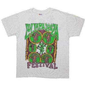 Lollapalooza T-Shirt Vintage 1993 Alice In Chains Arrested Development Primus 2018 Fashion Short Sleeve Brand Clothes Summer 2018