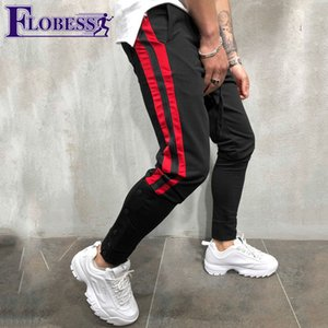 Big Size Men Jogger Sports Pants New 2018 Male Leisure Elastic Fitness Skinny Long Trousers Mens Striped Pencil Pants Sweatpants