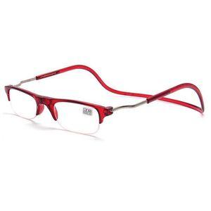 b98d82fd5c9 Half frame Lens Reading Glasses Men Women Magnetic Eyewear Folding  Eyeglasses Neck Hanging Glasses Plastic Frames