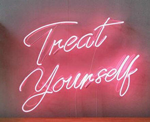 Treat Yourself Neon Light Sign Home Beer Bar Pub Recreation Room Game Lights Windows Glass Wall Signs 24*20 inches on Sale