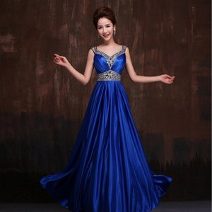 Wholesale Diamond Evening Gown dress new bride married toast red evening dress long Slim banquet hosted performances Cheongsams w831
