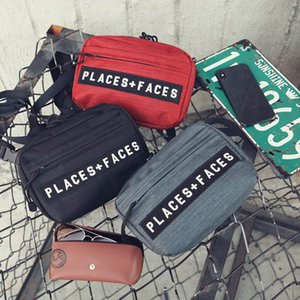 Wholesale PLACES FACES Life Embroidered Bags Men Women Original Shoulder Bag Mini Mobile Phone Packs Storage Bags P F Messenger Bags Outdoor Packs